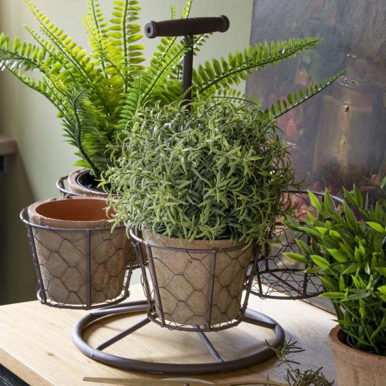Support pour 5 pots de plantes