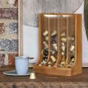 Distributeur de capsules à café en bois