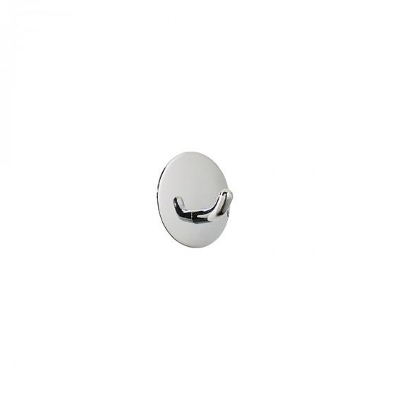 Crochet adhésif rond en métal chromé inoxydable Diamètre 6,5cm