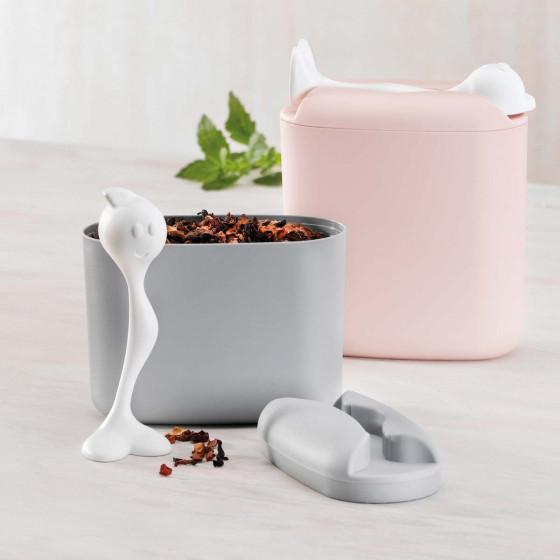 Boîte pour café avec cuillère