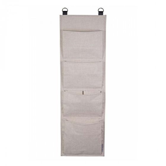 Rangement mural en tissu 4 larges poches