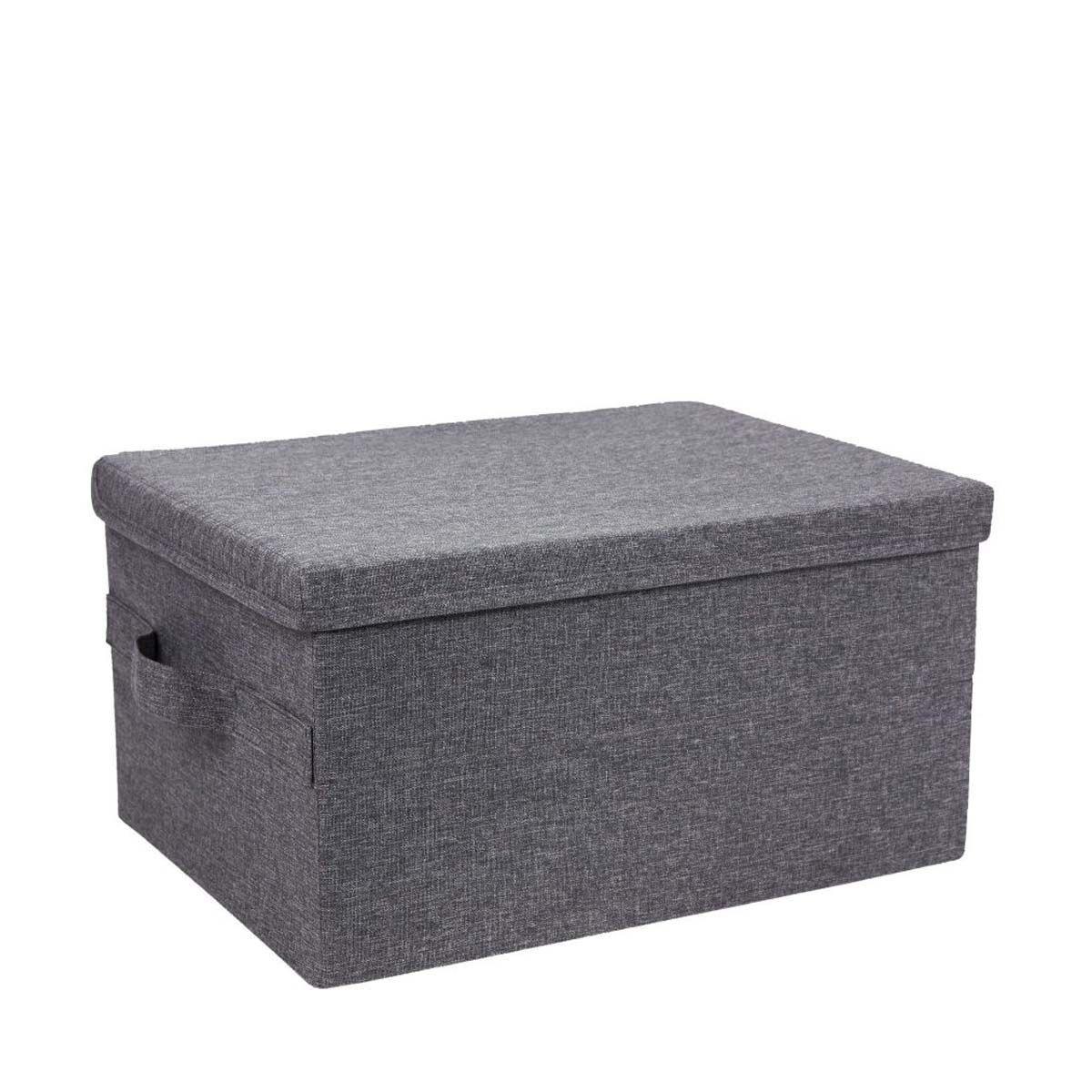 Boîte de rangement avec couvercle - En tissu - 22x30x40