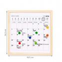 Tableau magnétique avec planning mensuel effaçable à sec