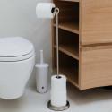 Réserve et dérouleur de papier toilette en métal