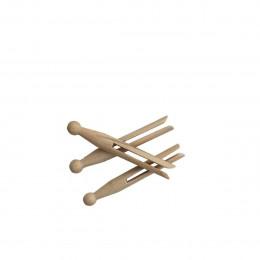 25 pinces à linge vintage en bois