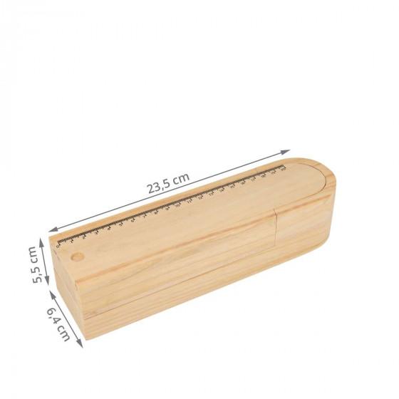 Plumier double en bois