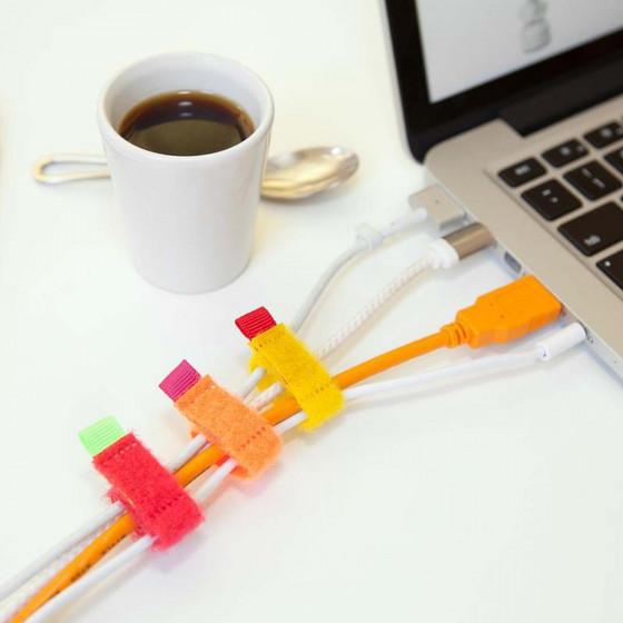8 attache câbles en velcro