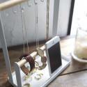 Porte bijoux en bois et métal