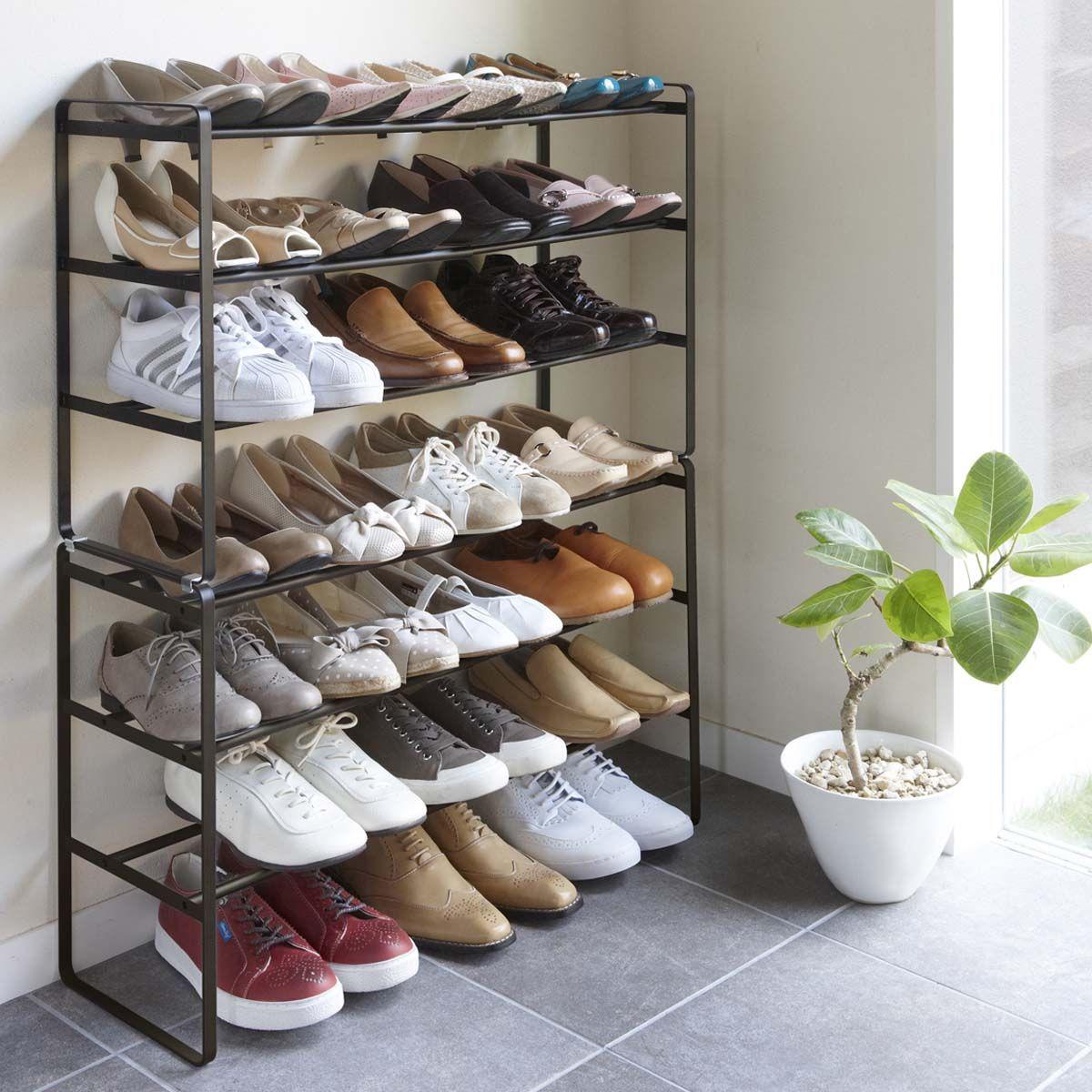 Meuble A Chaussure En Cagette Étagère à chaussures extensible 3 étages
