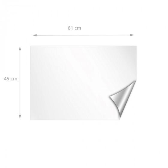 Panneau adhésif blanc repositionnable et effaçable à sec