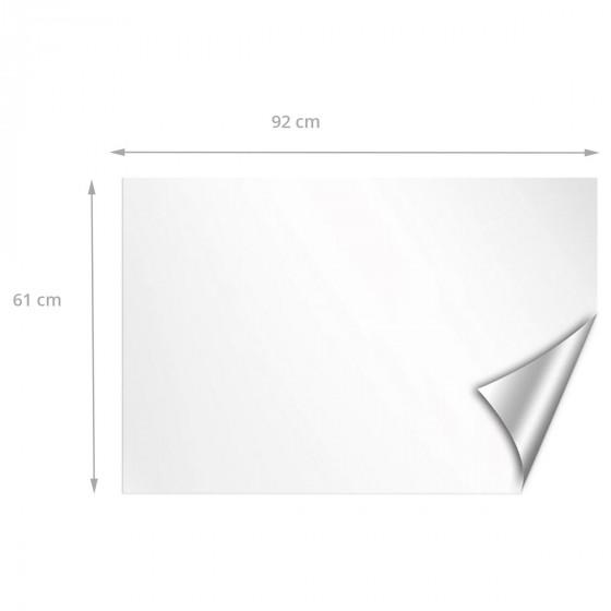 Grand panneau adhésif blanc repositionnable et effaçable à sec
