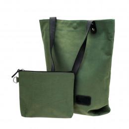 Sac porte bagage et bandoulière vert