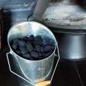 Seau à bois en zinc