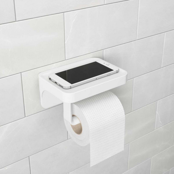 Porte papier toilette à ventouse