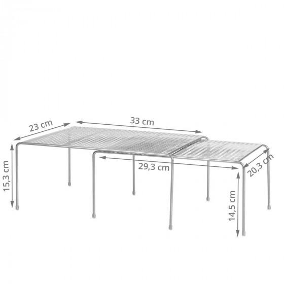 Etagères de rangement de placard superposables ou extensibles en métal