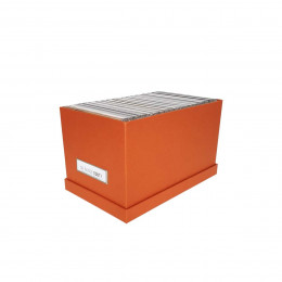 Boîte à CD en carton terracotta