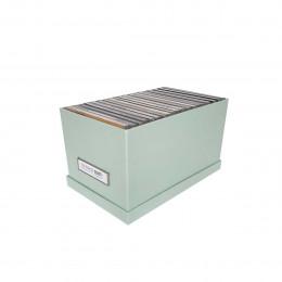 Boîte à CD en carton vert d'eau