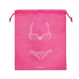 Housse de voyage pour lingerie femme rose