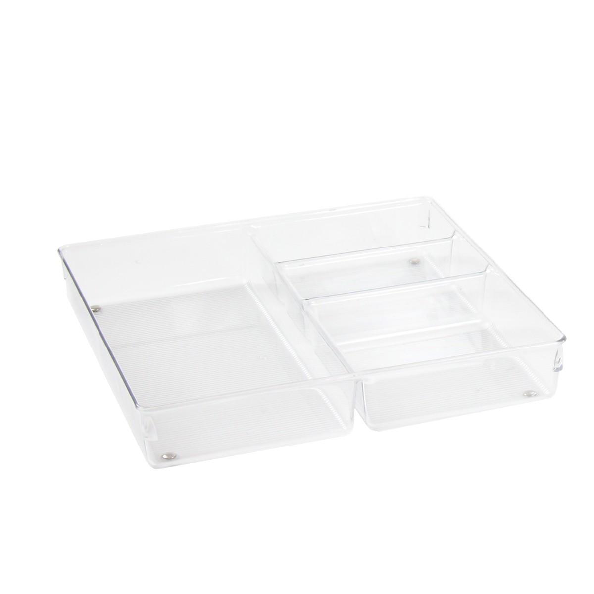 Organisateur de tiroir transparent rangement couverts for Organisateur tiroir