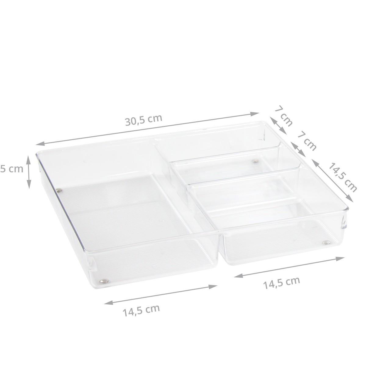 organisateur de tiroir transparent rangement couverts. Black Bedroom Furniture Sets. Home Design Ideas