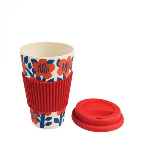 Mug en bambou fleuri