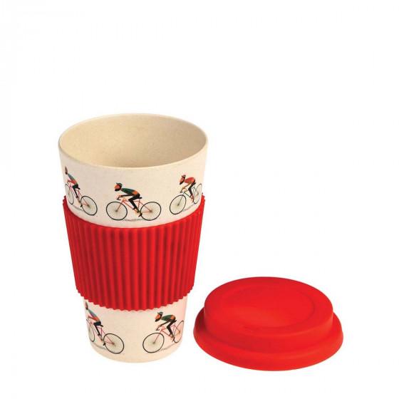 Mug en bambou pour cycliste