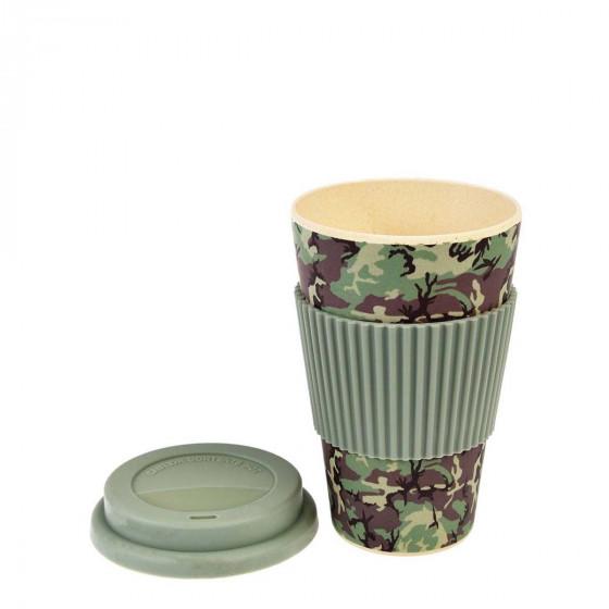 Mug en bambou trendy ou camouflage
