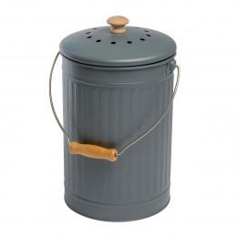Seau à compost écologique gris 7 litres