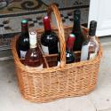 Panier à bouteilles en osier