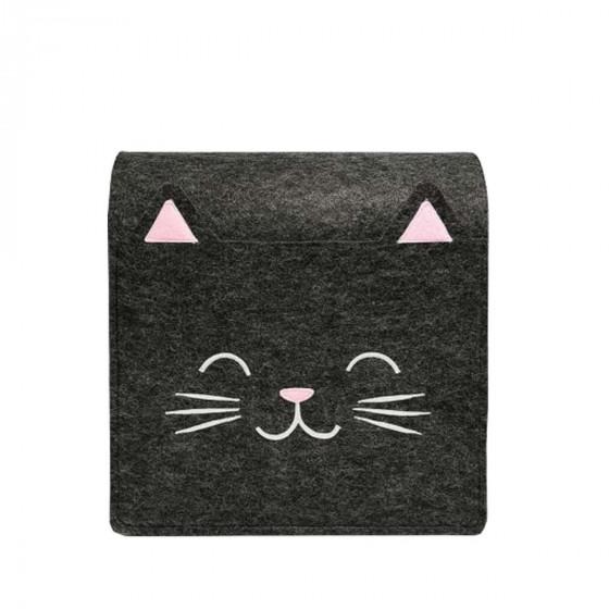 Poche de rangement pour lit enfant chat