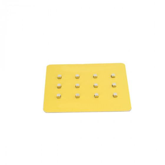12 aimants carrés chromés très puissants