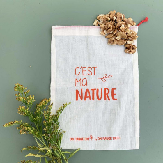 Sac à vrac en coton biologique pour céréales