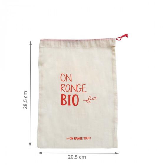 Sac à vrac en coton biologique 20x28