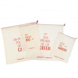 Lot de 4 sacs à vrac bio et originaux