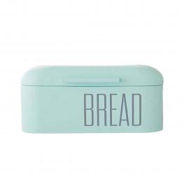 Boîte à pain rétro en métal vert bleu d'eau