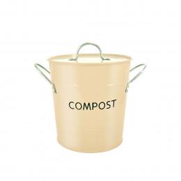 Poubelle à compost crème