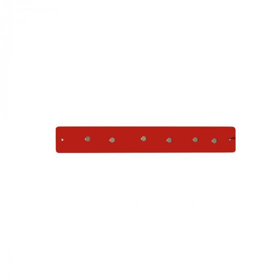 Petite barre magnétique murale  rouge avec 6 aimants fins et puissants