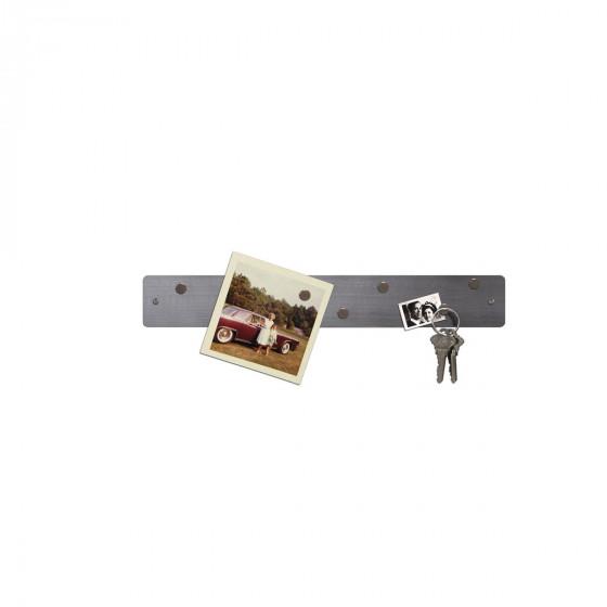 Petite barre magn tique murale inox affichage - Barre magnetique cuisine ...