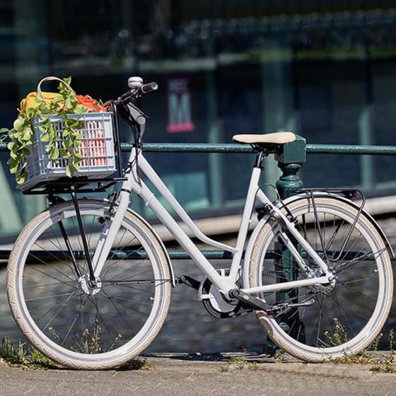Caisse grise pour porte bagage vélo 33 litres
