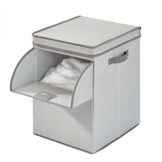 Panier à linge rigide en tissu