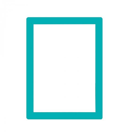 Cadre coloré format A4 repositionnable bleu