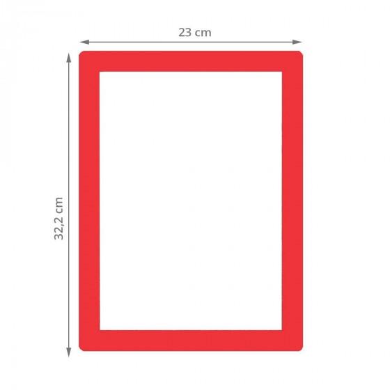 Cadre repositionnable pour document A4 rouge