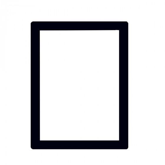Cadre sans trou pour document A4 noir