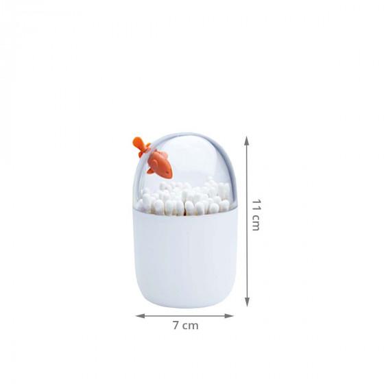 Boîte à coton tiges poisson