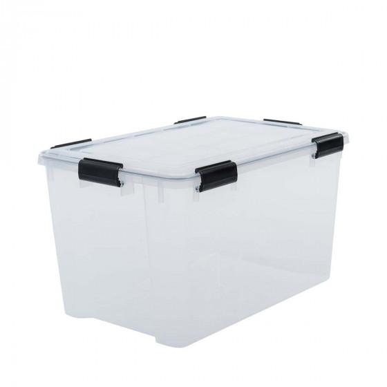 Boîte de stockage étanche en plastique translucide. 44 Litres