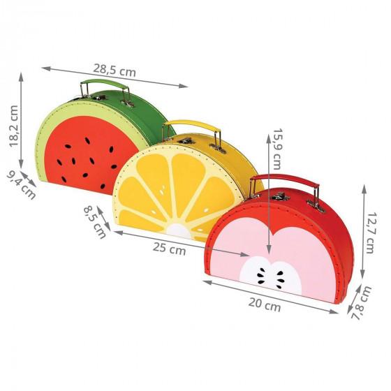 Valisettes en carton fruits