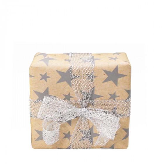Gros rouleau de papier cadeau 50 mètres kraft à étoiles