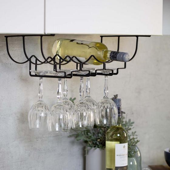 Rack à verres et bouteilles à glisser