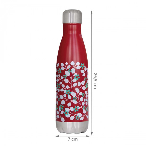 Bouteille isotherme à fleurs 500ml