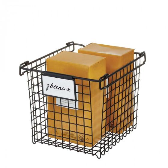 Porte-étiquettes clipsables noirs pour panier ou boîte
